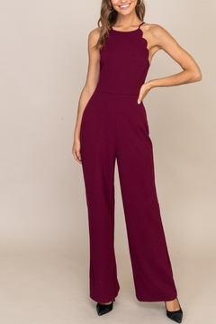 Shoptiques Product: Scalloped Style Jumpsuit