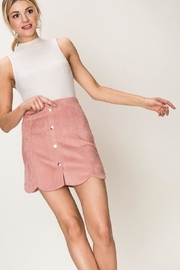 HYFVE Scalloped Suede Skirt - Product Mini Image