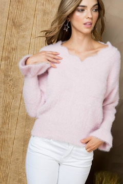 Towne Scalloped Sweater - Alternate List Image