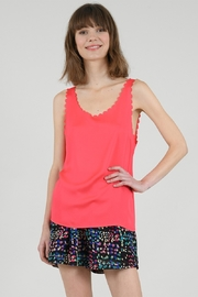Molly Bracken Scalloped Tank Top - Product Mini Image