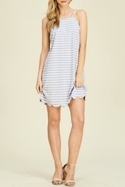 Paper Moon Scallops-And-Stripes Shift Dress - Product Mini Image