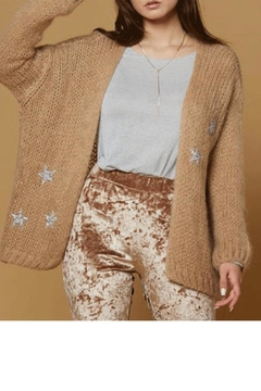 SCANDAL Knit Sweater W/ Silver Stars - Alternate List Image