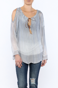 Scandal of Italy Blue Ombre Peasant Blouse - Product List Image