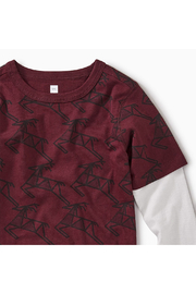Tea Collection Scandi Stag Layered Tee - Front full body