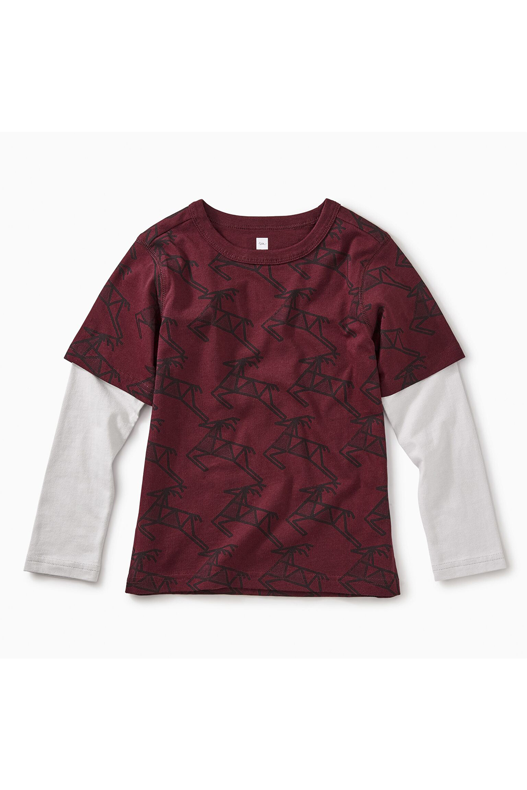 Tea Collection Scandi Stag Layered Tee - Front Cropped Image