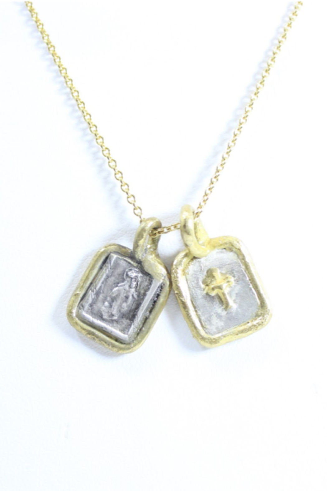 The Birds Nest SCAPULAR NECKLACE - 17 INCH CHAIN - Main Image