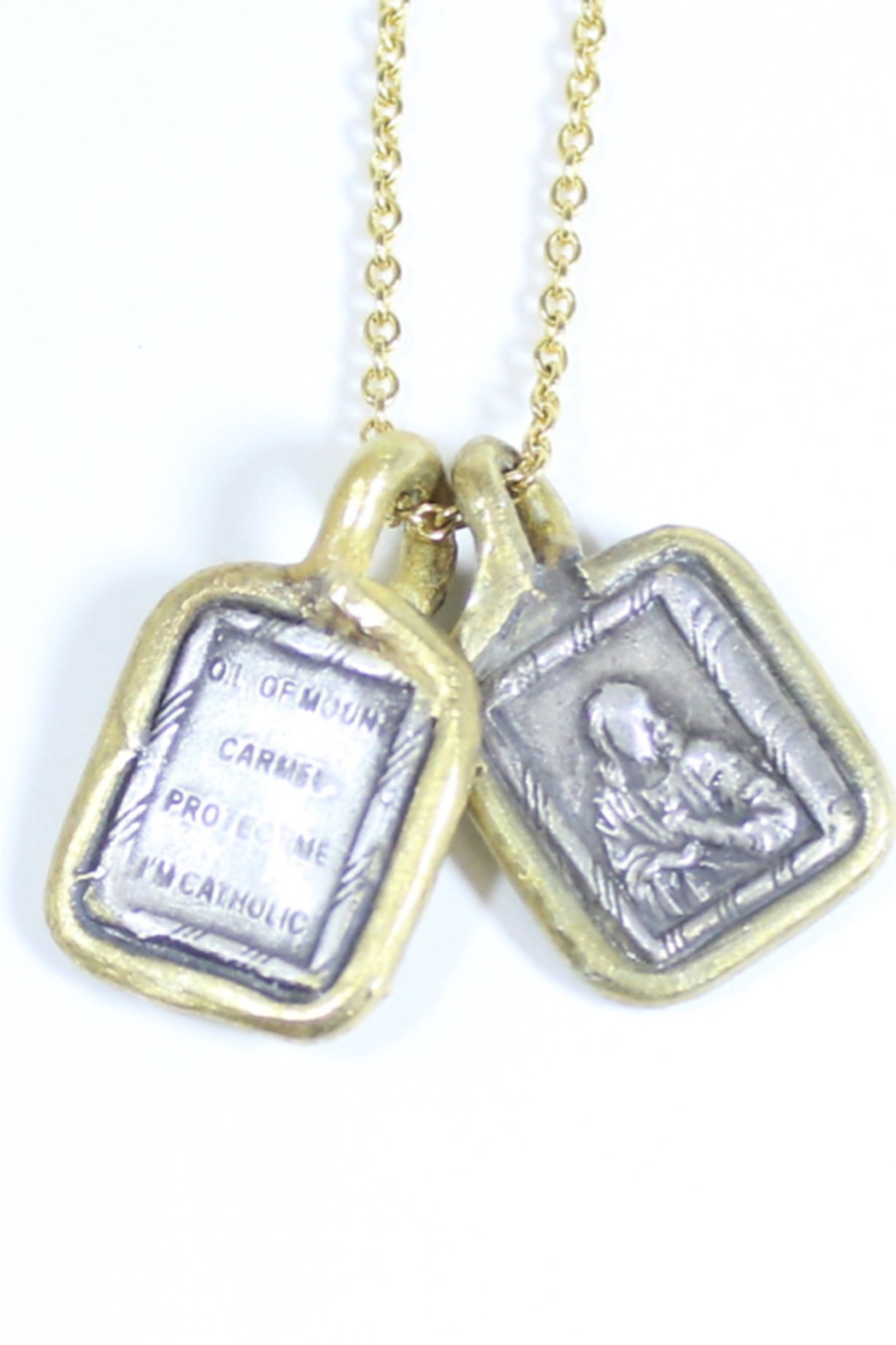 The Birds Nest SCAPULAR NECKLACE - 17 INCH CHAIN - Front Full Image