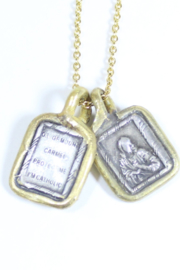 The Birds Nest SCAPULAR NECKLACE - 17 INCH CHAIN - Front full body