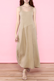 Scarborough Fair Beige Linen Dress - Front full body