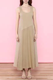 Scarborough Fair Beige Linen Dress - Front cropped