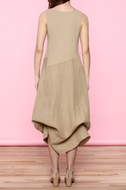 Scarborough Fair Beige Linen Dress - Back cropped