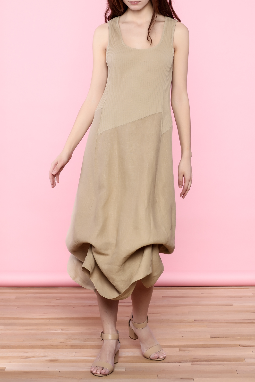 Scarborough Fair Beige Linen Dress - Main Image