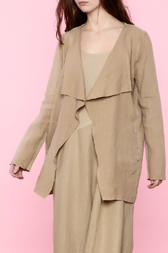 Scarborough Fair Beige Linen Jacket - Product List Image