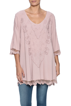 Scarborough Fair Mauve Embroidered Top - Product List Image