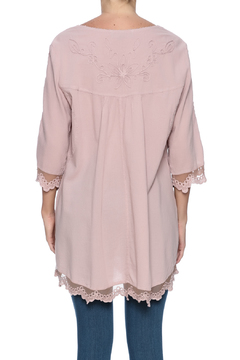 Scarborough Fair Mauve Embroidered Top - Alternate List Image