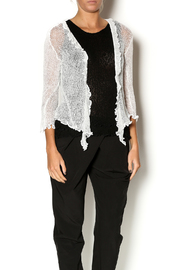 Scarborough Fair Openweave Ruffle Shrug - Front cropped