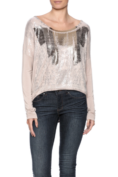 Shoptiques Product: Sequin Front Pink Top