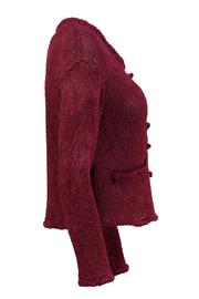 Scarecrow Claret Cotton Cardigan - Side cropped