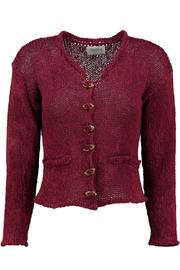 Scarecrow Claret Cotton Cardigan - Product Mini Image