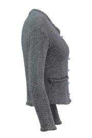 Scarecrow Grey Cotton Cardigan - Side cropped