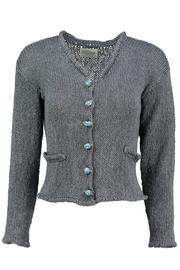 Scarecrow Grey Cotton Cardigan - Product Mini Image