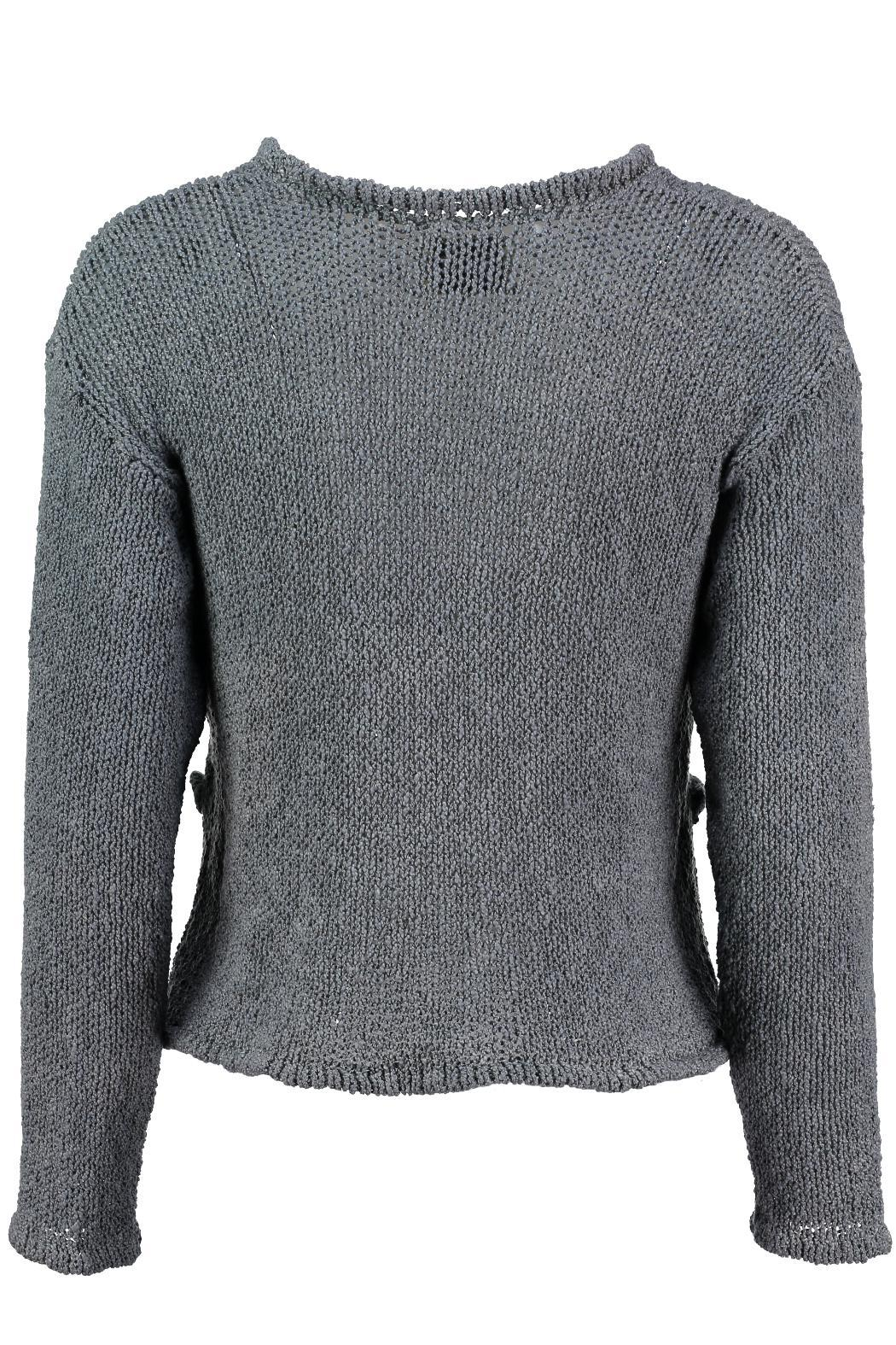 Scarecrow Grey Cotton Cardigan - Front Full Image
