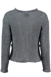 Scarecrow Grey Cotton Cardigan - Front full body