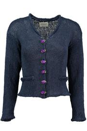 Scarecrow Indigo Cotton Cardigan - Product Mini Image