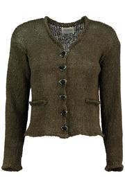 Scarecrow Khaki Cotton Cardigan - Product Mini Image