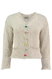 Scarecrow Natural Cotton Cardigan - Product Mini Image