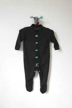 Scarecrow Kids Black Footed Onesie - Product List Image