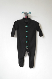 Scarecrow Kids Black Footed Onesie - Product Mini Image