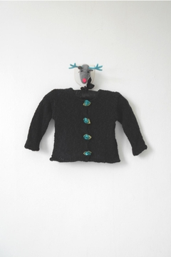 Scarecrow Kids Black Knitted Cardigan - Product List Image