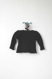 Scarecrow Kids Black Knitted Cardigan - Front full body