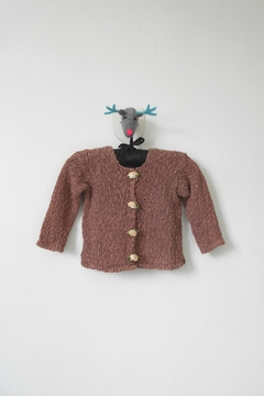 Shoptiques Product: Brown Knitted Cardigan