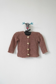 Scarecrow Kids Brown Knitted Cardigan - Front cropped