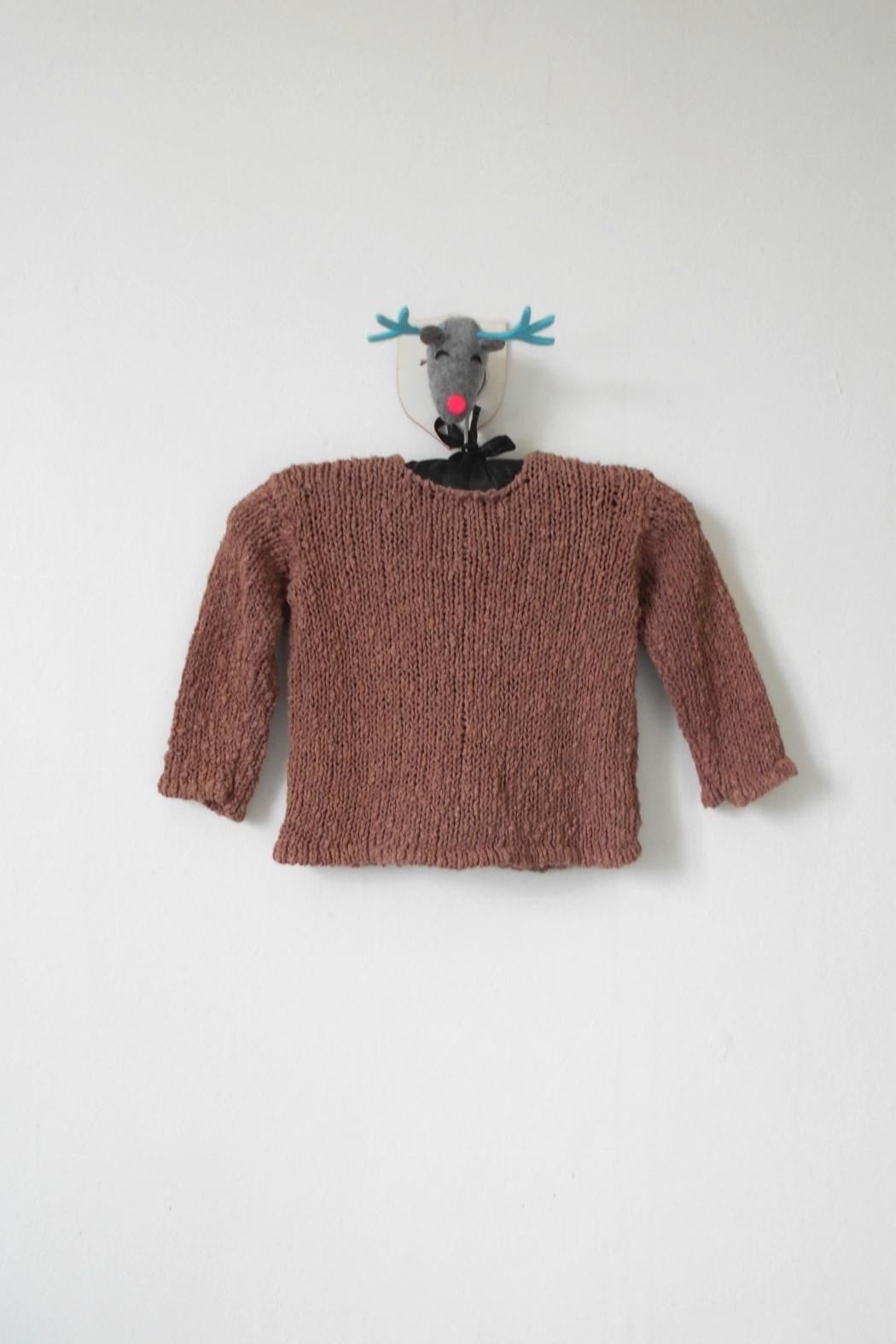 Scarecrow Kids Brown Knitted Cardigan - Front Full Image