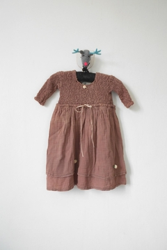 Scarecrow Kids Chocolate Muslin Dress - Product List Image