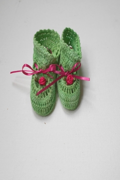 Scarecrow Kids Cotton Crochet Booties - Product List Image