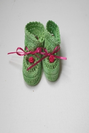 Scarecrow Kids Cotton Crochet Booties - Product Mini Image