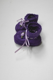 Scarecrow Kids Cotton Crochet Booties - Side cropped