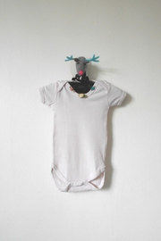 Scarecrow Kids Cream Rose Romper - Front cropped