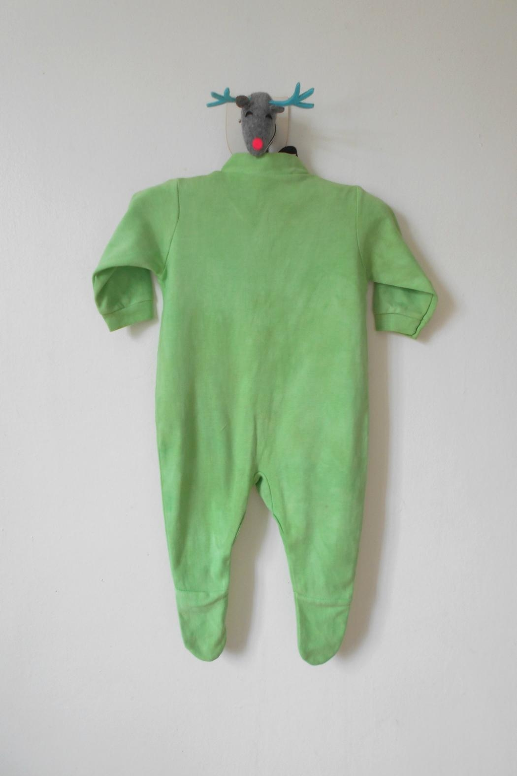 Scarecrow Kids Green Footed Onesie - Side Cropped Image