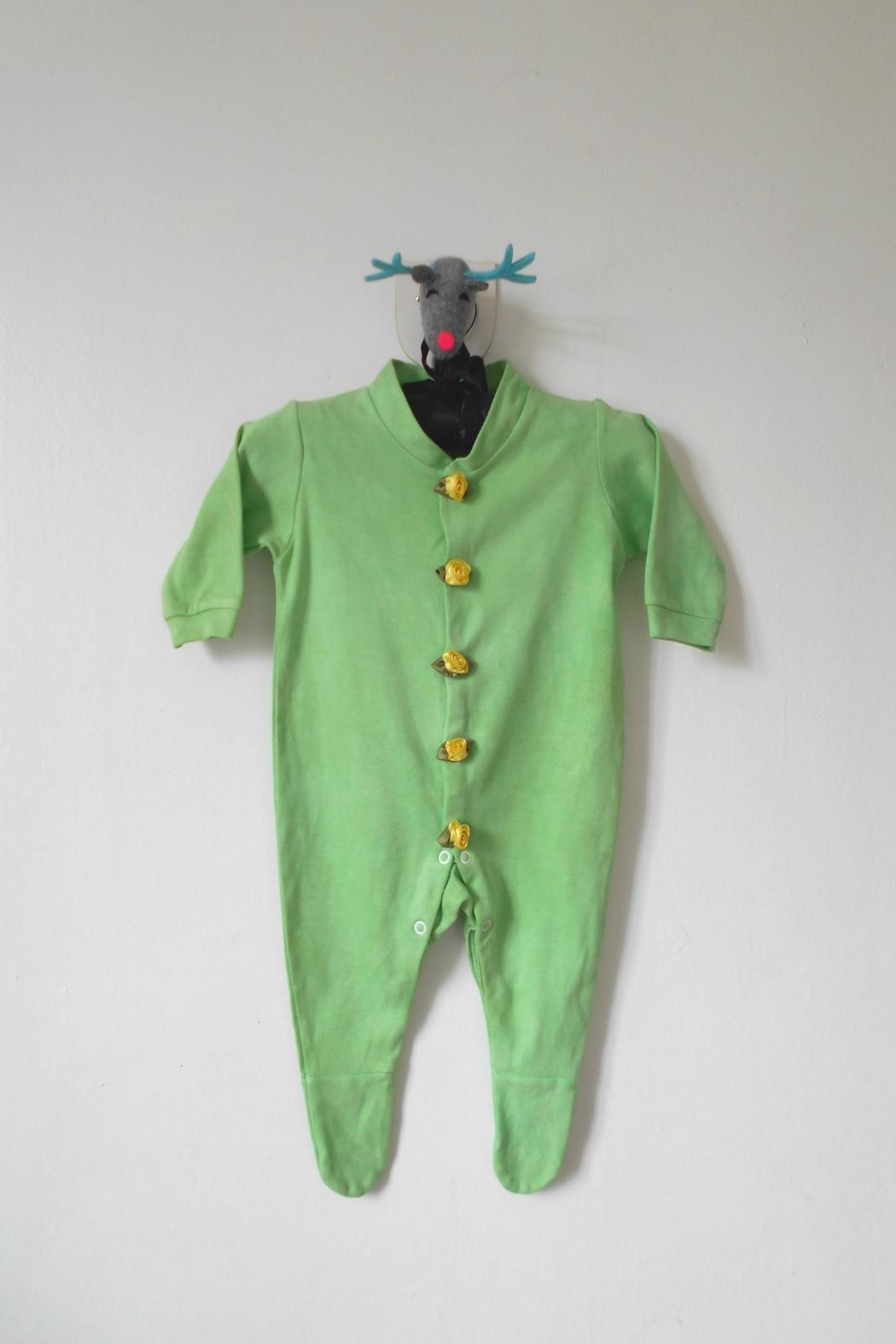 Scarecrow Kids Green Footed Onesie - Main Image