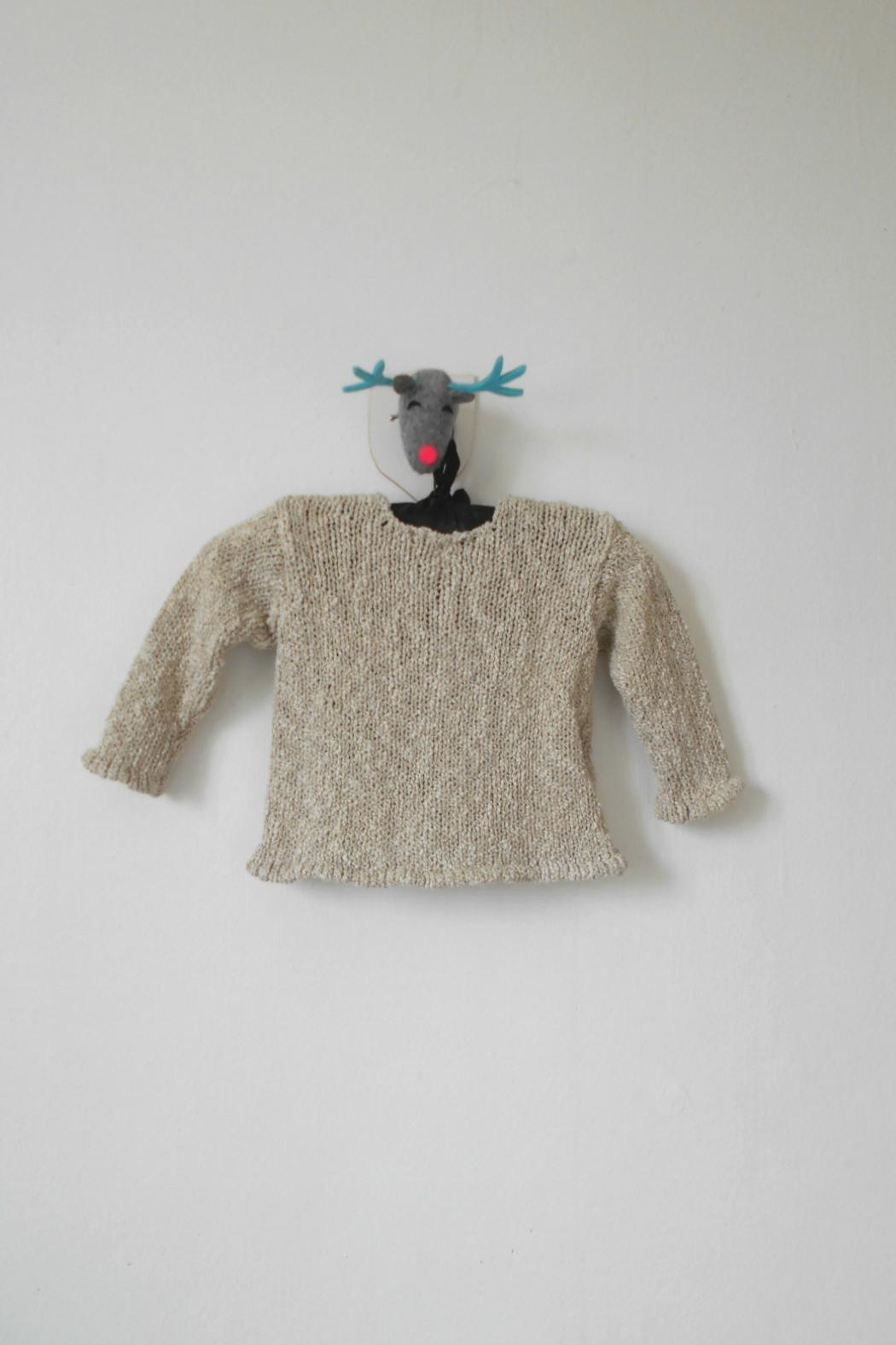 Scarecrow Kids Natural Knitted Cardigan - Front Full Image