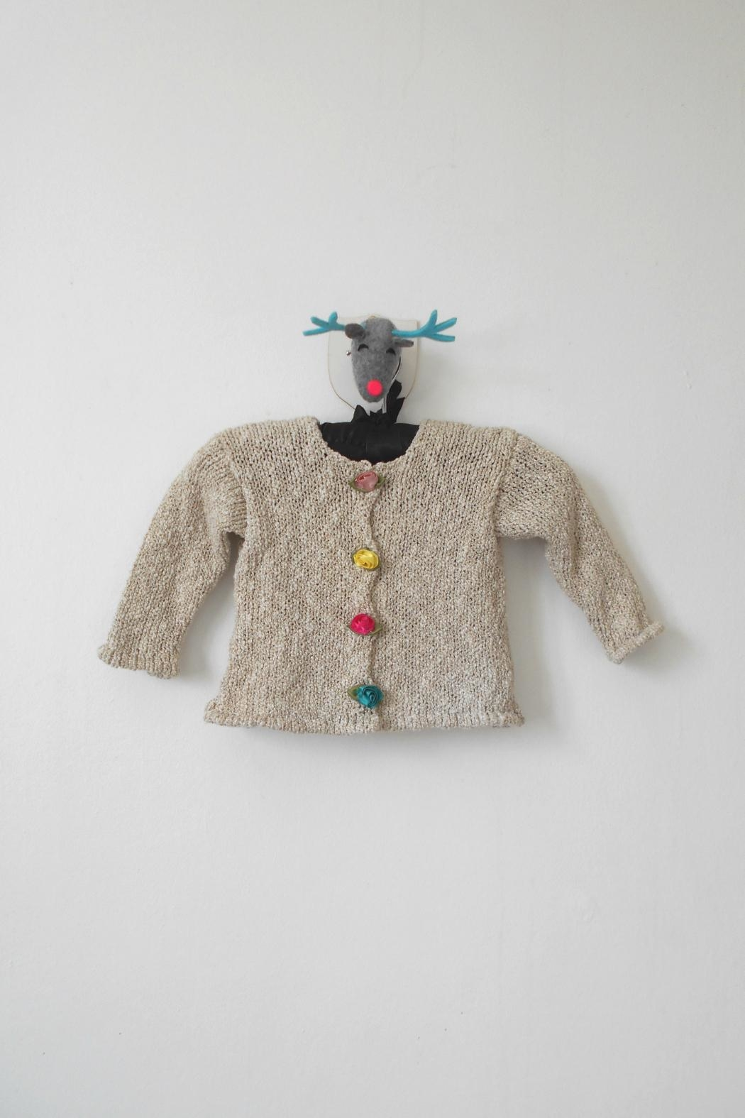 Scarecrow Kids Natural Knitted Cardigan - Main Image