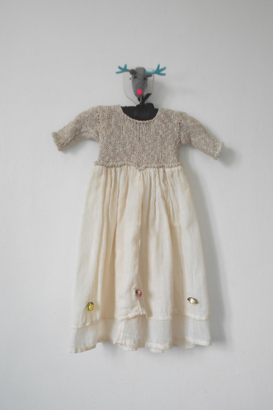 Scarecrow Kids Natural Muslin Dress - Front Full Image