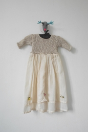 Scarecrow Kids Natural Muslin Dress - Front full body