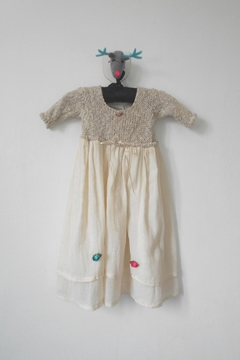 Scarecrow Kids Natural Muslin Dress - Product List Image