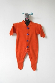 Scarecrow Kids Orange Footed Onesie - Product Mini Image